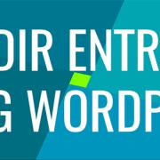cabecera añadir entrada wordpress