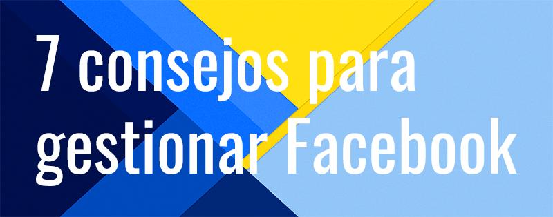 gestionar página de Facebook