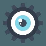 Esta es una imagen de un engranaje con un ojo