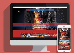 aquafire web móvil portfolio