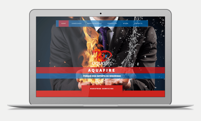aquafire portfolio web