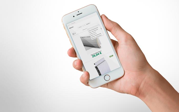 tienda de compacto móvil portfolio