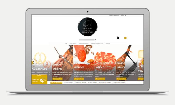 jamón bellota web portfolio