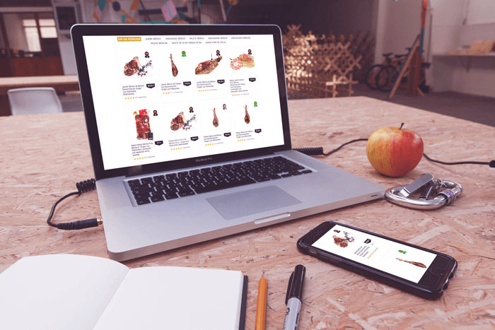 jamón de bellota web móvil portfolio
