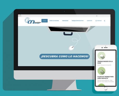 translation manager web móvil portfolio