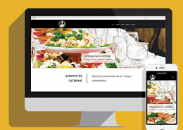 Catering Angel Diseño web