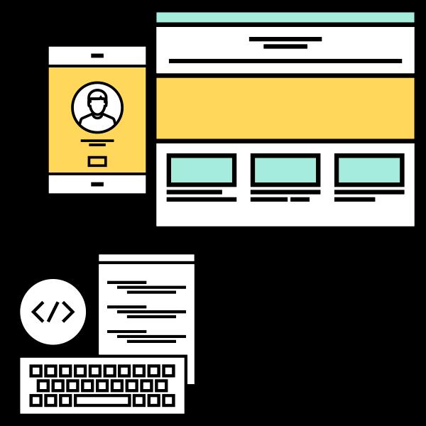 vector de desarrollo web