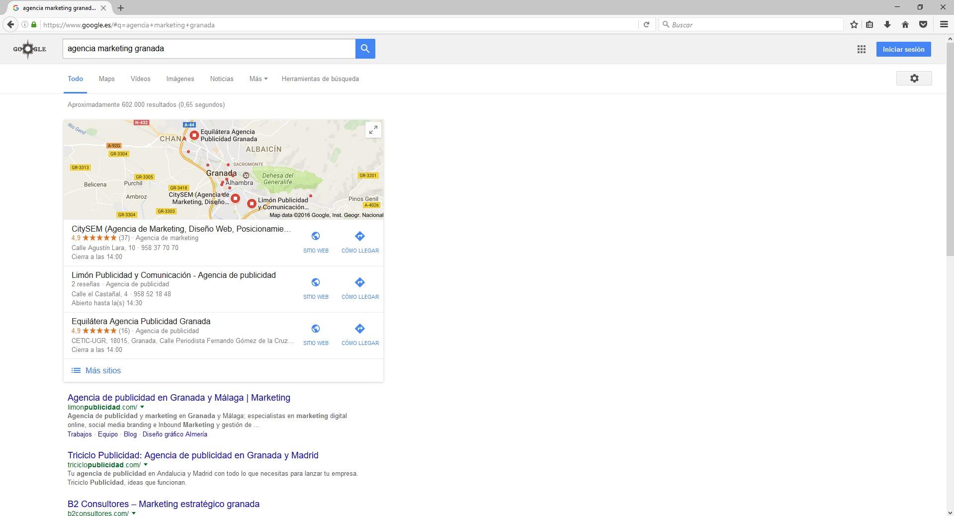 resultado de búsqueda del término agencia marketing granada