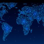 La imagen muestra un mapamundi donde se puede ver el ecosistema Google