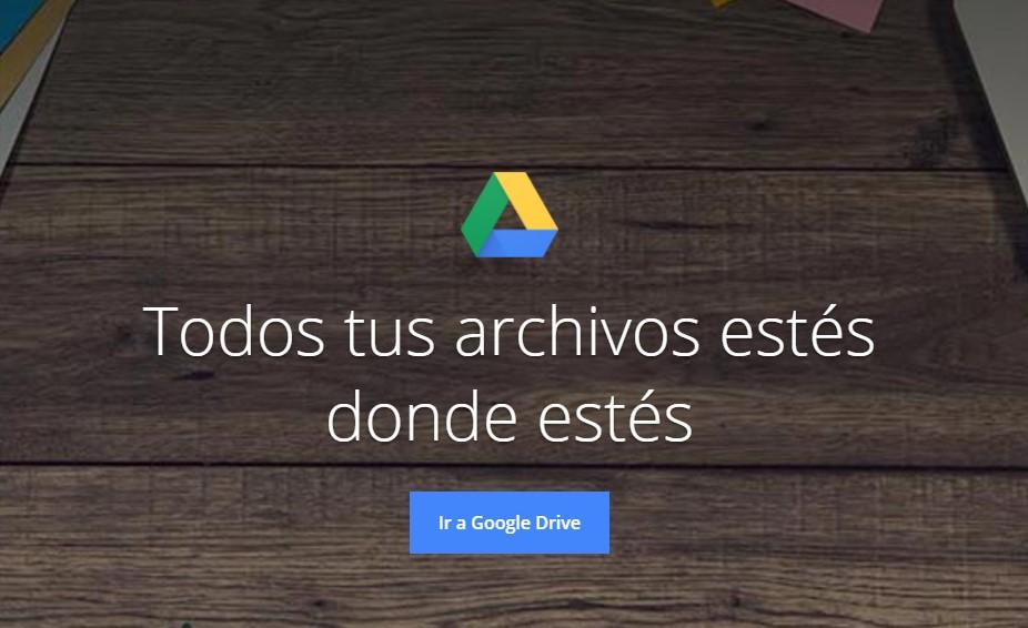 Pantalla de inicio Google Drive
