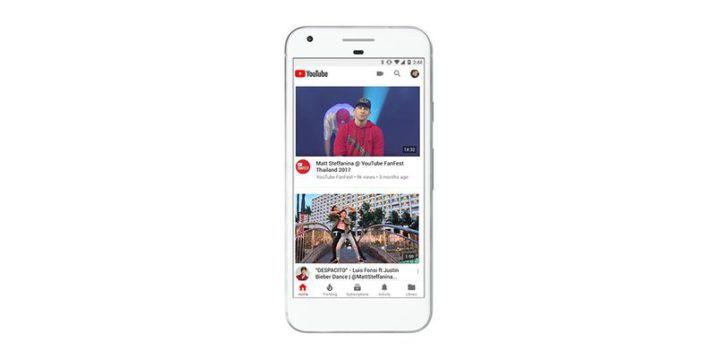 nueva versión de youtube para móviles