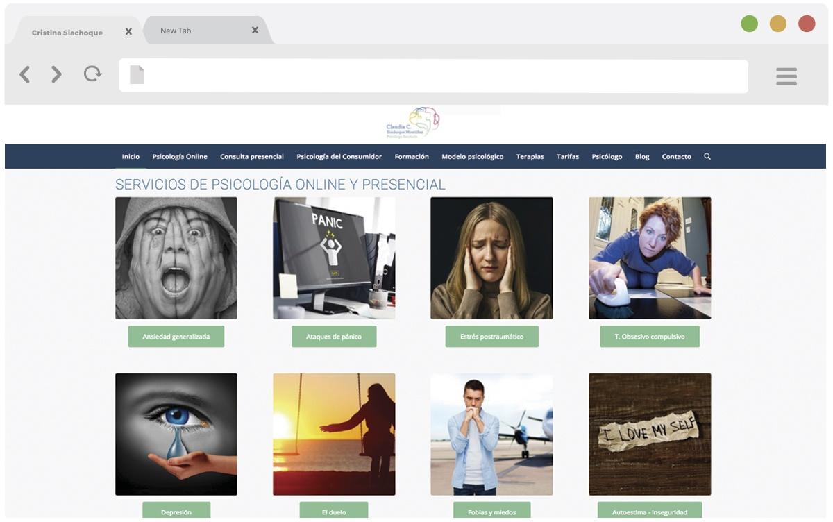 Cristina Siachoque web mockup