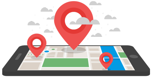 imagen que muestra un mapa en la pantalla de un móvil
