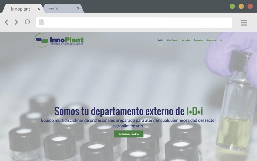 Diseño web corporativa InnoPlant