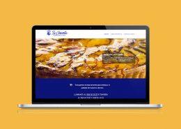 Mockup en MacBook Pro Pastelería La Concordia