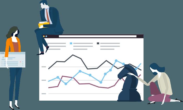 Analítica web con gráficos y vectores