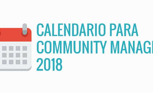 Cabecera para entrada de blog calendario community manager 2018