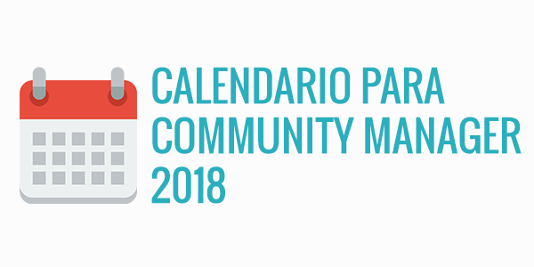 Cabecera para entrada de blog calendario community manager 2018
