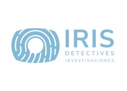 Logotipo de Detectives Investigadores IRIS azul