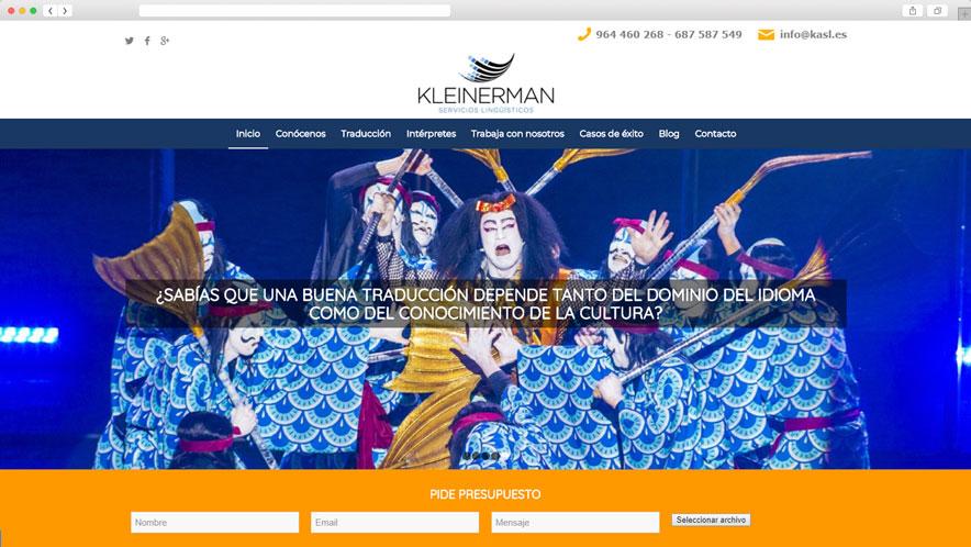Mockup en navegador de traducciones kleinerman