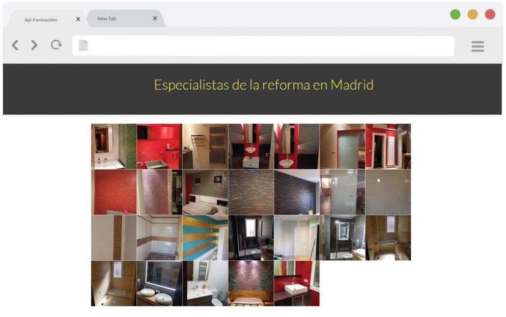 Pantallazo especialista de la reforma en Madrid